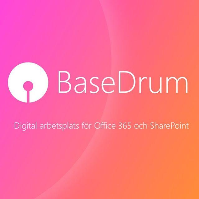 Idag lanserar vi BaseDrum – nästa generations intranät för Office 365 och SharePoint! #tahoesolutions #basedrum #office365 #sharepoint #intranet #digitalworkplace.  www.basedrum.se