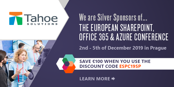 See you in Prague @ European SharePoint Conference 2019!